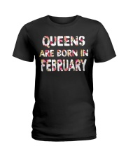 QUEENS ARE BORN IN FEBRUARY Ladies T-Shirt front