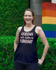 QUEENS ARE BORN IN FEBRUARY Ladies Flowy Tank lifestyle-bellaflowy-tank-front-2