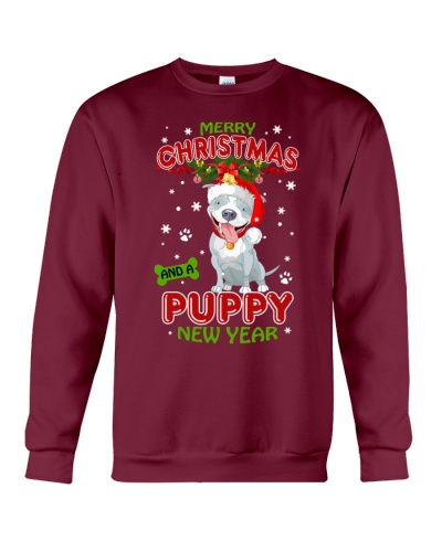 CHRISTMAS AND PUPPY PITBULL NEW YEAR