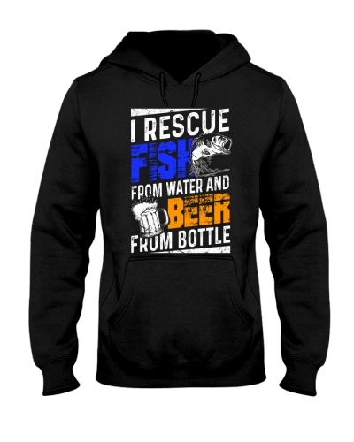 Rescue Fish From Water Beer From Bottle