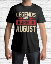 LEGENDS ARE BORN IN AUGUST Classic T-Shirt lifestyle-mens-crewneck-front-1