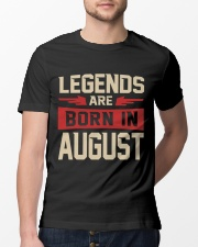 LEGENDS ARE BORN IN AUGUST Classic T-Shirt lifestyle-mens-crewneck-front-13
