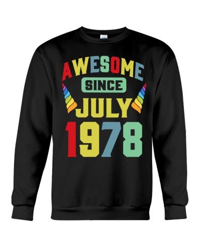 Awesome Since JULY 1978 1st Unicorn Birthday