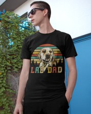 Mens Vintage Lab Dad Funny Labrador Retriever Dog  Classic T-Shirt apparel-classic-tshirt-lifestyle-17