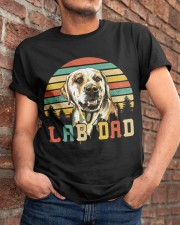 Mens Vintage Lab Dad Funny Labrador Retriever Dog  Classic T-Shirt apparel-classic-tshirt-lifestyle-26