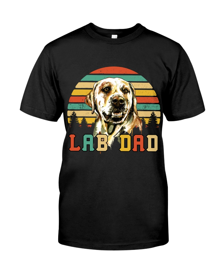 Mens Vintage Lab Dad Funny Labrador Retriever Dog  Classic T-Shirt
