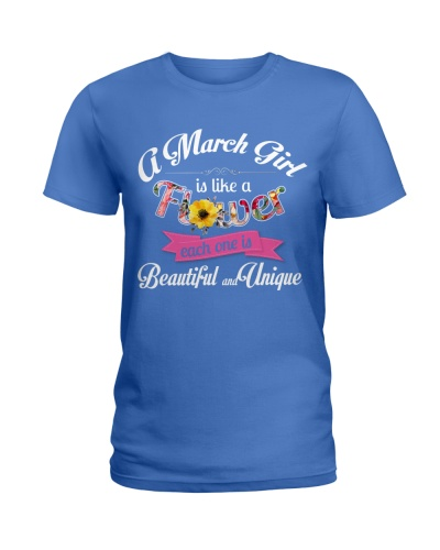A MARCH GIRL IS LIKE A FLOWER