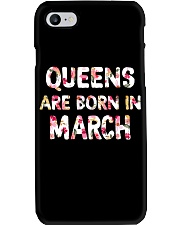QUEENS ARE BORN IN MARCH Phone Case tile