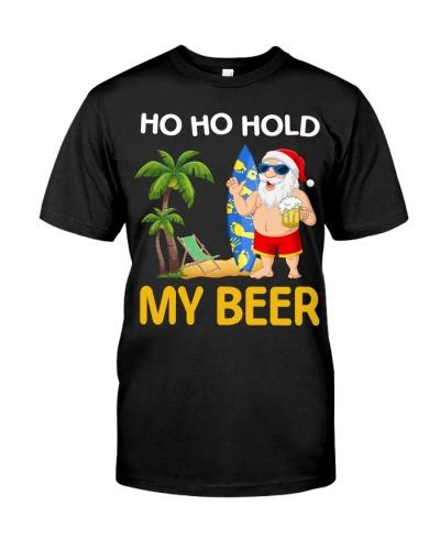 Christmas In July Santa Ho Ho Hold My Beer