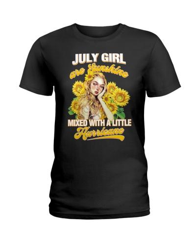 July Girl Sunshine Mixed Hurricane Cancer Leo