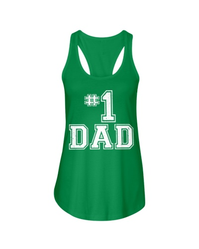 1 Dad Number One Father's Day Vintage Style TShirt