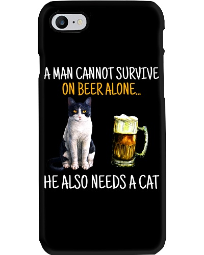 Cannot Survive On Beer Alone He Also Needs A Cat