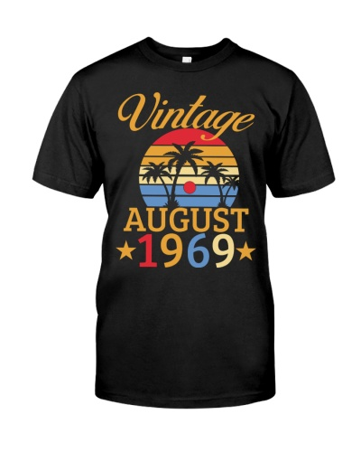 Vintage Born In August 1969 50th Birthday