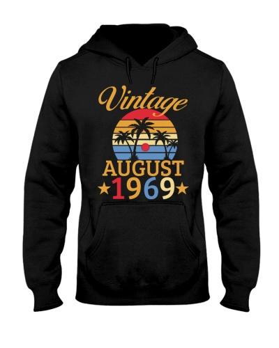 Vintage Born In August 1969 50th Birthday