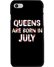 QUEENS ARE BORN IN JULY Phone Case tile