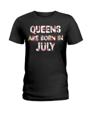 QUEENS ARE BORN IN JULY Ladies T-Shirt front