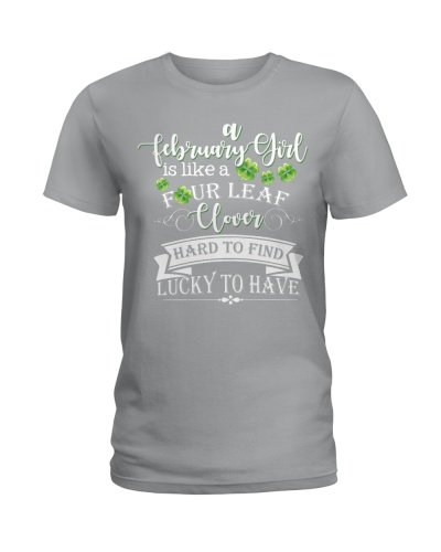 A FEBRUARY GIRL IS LIKE A FOUR LEAF CLOVER