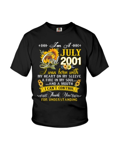I'm A July Girl 2001 Sunflower 18th Birthday Gift