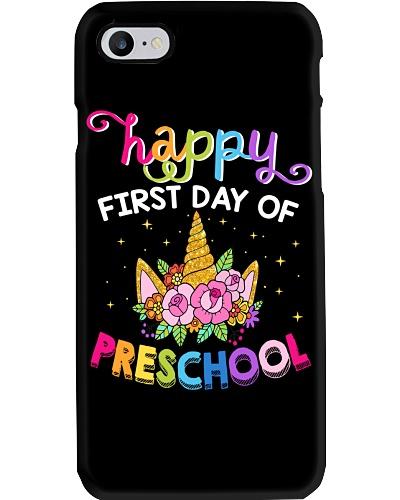 Happy First Day Of Preschool Unicorn Funny