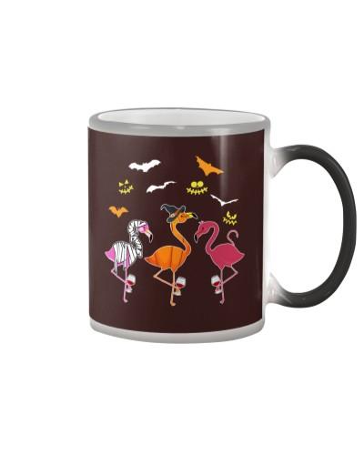 Flamingoween Funny Flamingo Witches Halloween