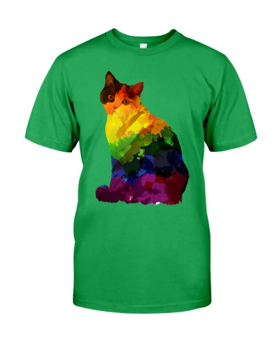 Gay Pride Cat Rainbow LGBT