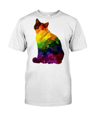 Gay Pride Cat Rainbow LGBT