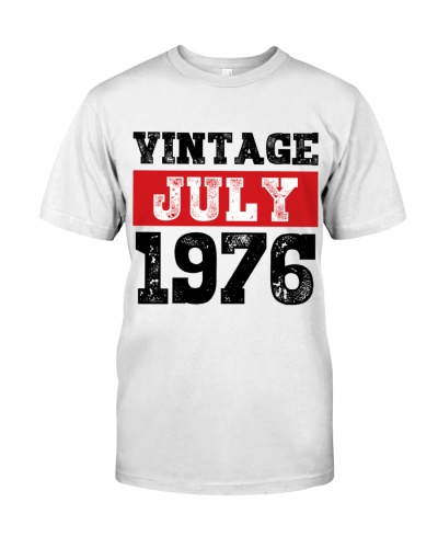 Retro Vintage July 1976 43rd Birthday Gift