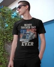 Vintage USA Best Trucker Dad Ever American Flag Classic T-Shirt apparel-classic-tshirt-lifestyle-17