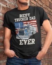 Vintage USA Best Trucker Dad Ever American Flag Classic T-Shirt apparel-classic-tshirt-lifestyle-26