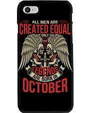 LEGENDS ARE BORN IN OCTOBER Phone Case thumbnail