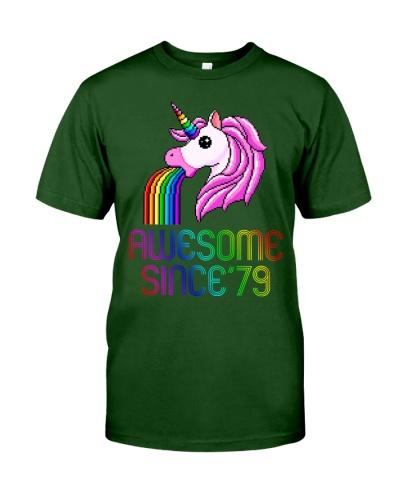 Unicorn 40th Birthday Gift Rainbow 1979 40 Years