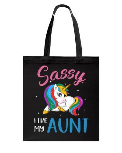 Sassy Like My Aunt Unicorn Toddler Girl