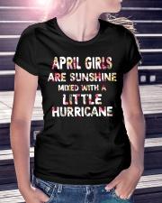 APRIL GIRL SUNSHINE MIXED WTH LITTLE HURRICANE Ladies T-Shirt lifestyle-women-crewneck-front-7