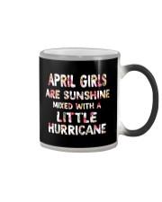 APRIL GIRL SUNSHINE MIXED WTH LITTLE HURRICANE Color Changing Mug thumbnail
