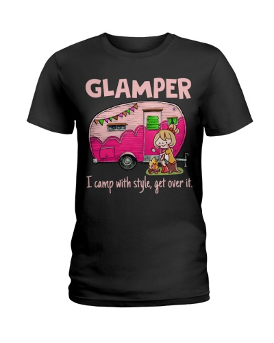 Glamper I Camp With Style Get Over It Camping Gift