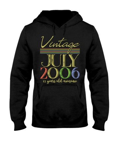 Vintage July 2006 13th Birthday 13 Years Old Gift