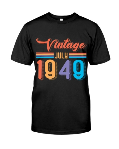 Vintage July 1949 70th Birthday Retro 80s