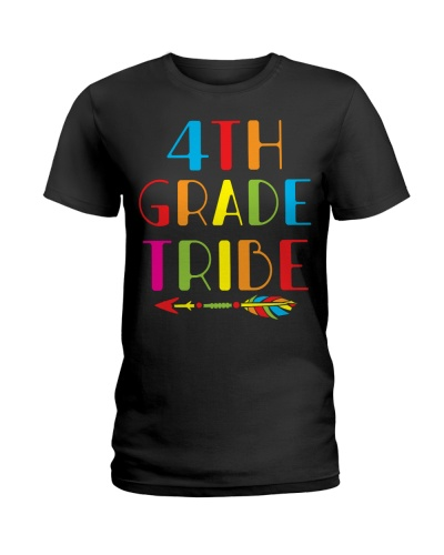 Womens 4th Grade Tribe Teacher Gifts Fourth Grade