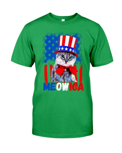 Funny Cat Meowica 4th Of July