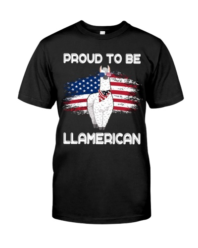 Proud To Be Llamerican 4th Of July Awesome