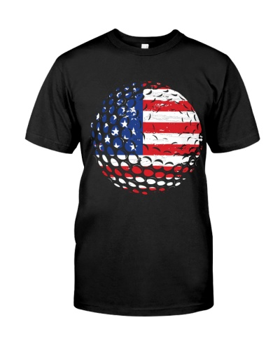 Patriotic America Flag Golf 4th Of July Gift