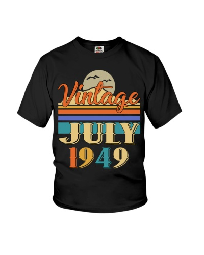 Retro Classic Vintage July 1949 70th Birthday Gift