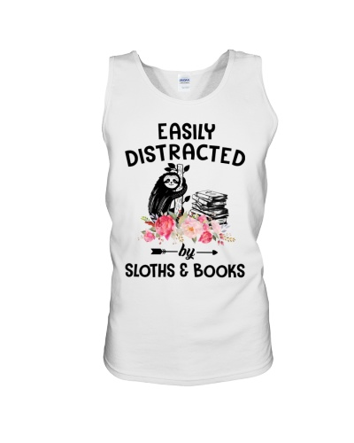 Easily Distracted Sloth And Book