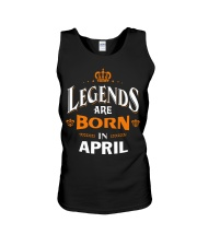 LEGENDS ARE BORN IN APRIL Unisex Tank thumbnail
