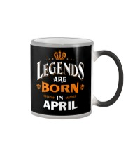 LEGENDS ARE BORN IN APRIL Color Changing Mug thumbnail