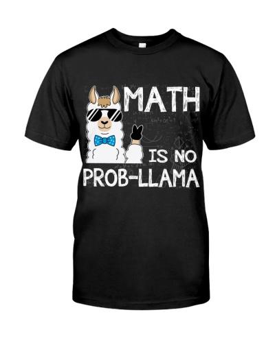 Math Is No Prob-Llama Funny Llama Math Teacher