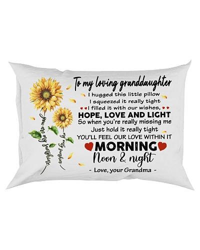 Pillow Sunflower To My Loving Granddaughter