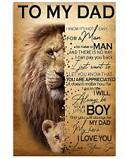 To My Dad Lion - Son - Canvas For Table 11x17 Poster thumbnail