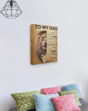 To My Dad Lion - Son - Canvas For Table 11x14 Gallery Wrapped Canvas Prints aos-canvas-pgw-11x14-lifestyle-front-02