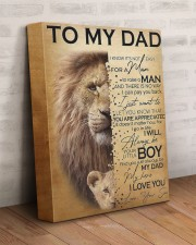To My Dad Lion - Son - Canvas For Table 11x14 Gallery Wrapped Canvas Prints aos-canvas-pgw-11x14-lifestyle-front-07